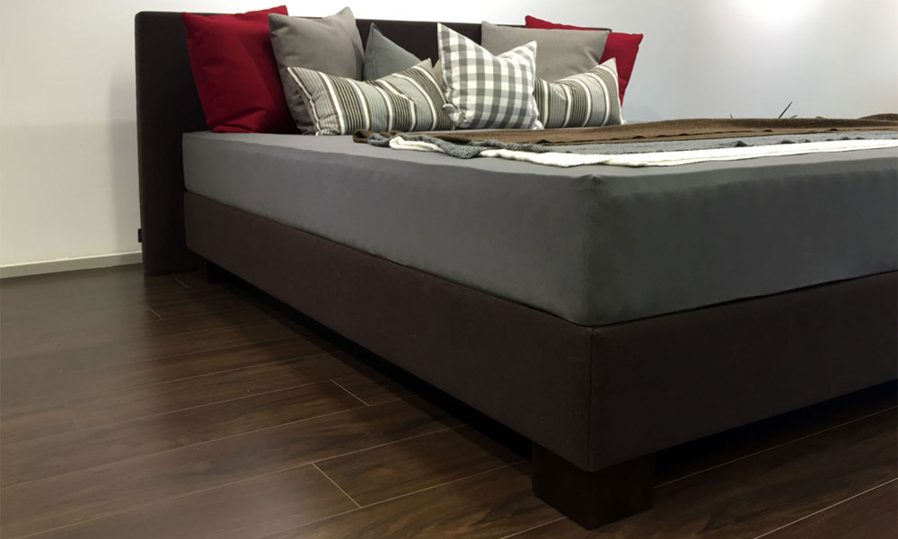 boxspring wasserbett dual probox lederbett komplett all inclusive designer bett ebay. Black Bedroom Furniture Sets. Home Design Ideas